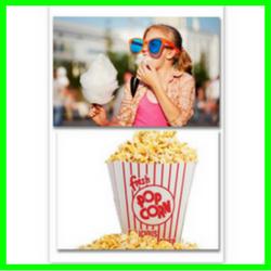 Wata cukrowa i Popcorn